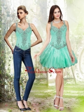 Detachable Beading and Ruffles Apple Green Prom Dresses SJQDDT30004FOR