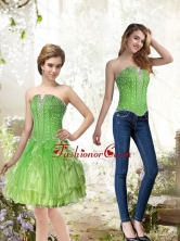 Detachable Lime Green Prom Dresses with Beading and Ruffles for 2015 SJQDDT36004FOR