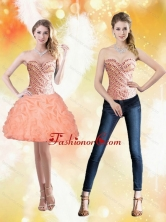 Detachable Sweetheart Short Peach 2015 Prom Dresses with Beading and Pick Ups SJQDDT22004FOR