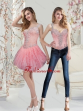 Detachable Watermelon Prom Dresses with Beading and Ruffles for 2015 SJQDDT29004FOR