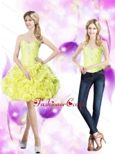 Elegant Ball Gown Prom Dresses with Beading and Rolling Flowers SJQDDT53004FOR