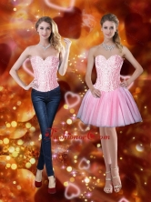 Elegant Sweetheart Short Prom Dresses with Beading in Pink SJQDDT75004FOR