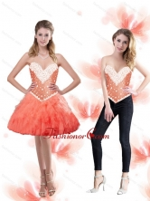 Light Sweetheart Prom Dresses with Beading and Ruffles SJQDDT83004FOR