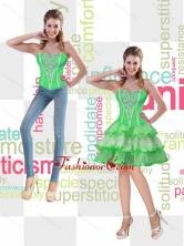 Spring Green Sweetheart Decent Prom Dresses with Beading for 2015 SJQDDT50004FOR