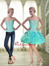 Sturning Sweetheart Lace Up Beaded Prom Dress with Mini Length SJQDDT55004FOR