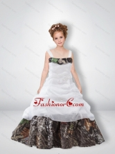 Cute A Line 2015 Camo Flower Girl Dresses with Beading CMLD009FOR