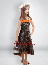 Perfect 2015 High Low One Shoulder Camo Flower Girl Dresses CMLD010FOR