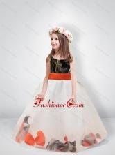 Pretty Ball Gown Scoop Belt Camo Flower Girl Dresses CMLD003FOR