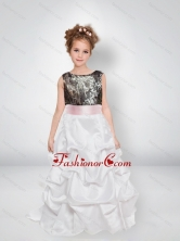 Sweet A Line Scoop Camo Flower Girl Dresses with Bowknot CMLD001FOR