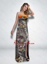 2015 Luxurious Empire Strapless Garden Camo Prom Dresses with High Slit CMPD057FOR