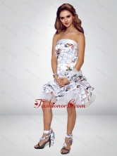 2015 Spring Short Strapless Knee-length Camo Prom Dresses CMPD019FOR