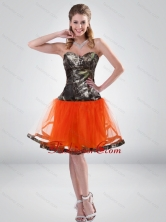 Affordable 2015 Sweetheart Multi Color Short Camo Prom Dresses CMPD001FOR