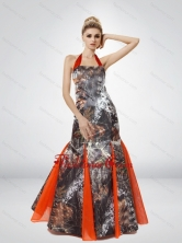 Beautiful Mermaid Halter Top 2015 Camo Prom Dresses CMPD071FOR