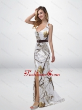 Classical Column Halter Top Camo Prom Dresses with Sashes CMPD029FOR