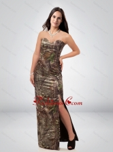 Discount Column Sweetheart Camo Prom Dress with High Slit CMPD006FOR