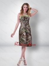Elegant Empire Strapless Knee Length Camo Prom Dresses in Multi Color CMPD034FOR