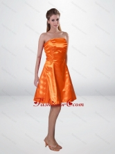 Elegant Short Strapless Orange Camo Prom Dresses with Sashes CMPD033FOR