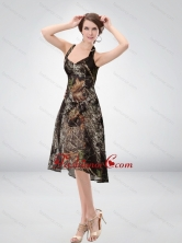 Exclusive Halter Top Tea Length Camo Prom Dresses in Multi Color CMPD031FOR