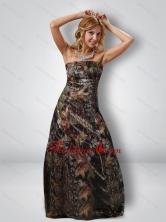 Fashionable 2015 Column Strapless Camo Prom Dresses in Multi Color CMPD058FOR
