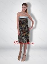 Flirting 2015 Column Strapless Tea Length Camo Prom Dresses CMPD066FOR