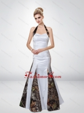 Mermaid Halter Top Romantic Camo Prom Dresses with Ruching CMPD052FOR