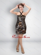 Multi Color Short Halter Wonderful Camo Prom Dresses for Cocktail CMPD036FOR