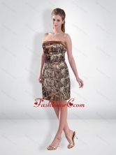 Perfect Short Strapless Camo Prom Dresses with Ruching CMPD024FOR