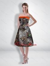 Popular Short Strapless Knee Length Camo Prom Dresses CMPD008FOR