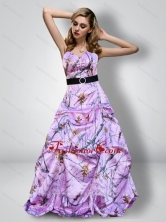 Romantic Sweetheart Camo Prom Dresses with Sash for 2015 CMPD060FOR