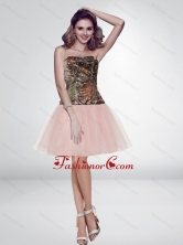 Unique Multi Color Short Strapless Pink Camo Prom Dresses CMPD028FOR