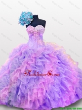 2015 Fall Luxurious Quinceanera Dresses with Sequins and Ruffles SWQD012-3FOR