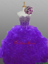 2015 Fall Perfect Beaded Quinceanera Dresses with Rolling Flowers SWQD008-8FOR