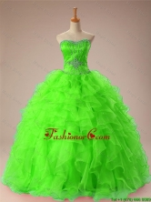 2015 Fall Perfect Sweetheart Quinceanera Dresses with Beading and Ruffles SWQD009-5FOR
