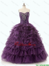 2016 Beautiful Dark Purple Quinceanera Dresses with Ruffled Layers SWQD049-1FOR