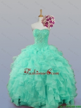 2016 Summer Beautiful Sweetheart Quinceanera Dresses with Beading and Ruffles SWQD007-10FOR