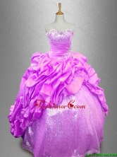 Beautiful Strapless Beaded Sweet 16 Dresses with Pick Ups SWQD039-3FOR