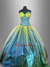 Elegant Sweetheart Multi Color Quinceanera Dresses with Beading  SWQD041-1FOR
