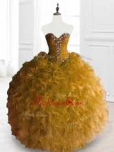 Exclusive Ball Gown Sweet 16 Dresses with Beading and RufflesSWQD066-1FOR