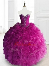 Fashionable Beading and Ruffles Quinceanera Dresses in FuchsiaSWQD066-5FOR