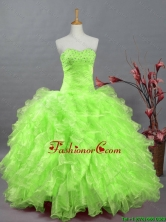 Gorgeous Sweetheart Quinceanera Dresses in Spring Green for 2016 Summer SWQD002-5FOR