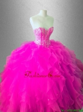 In Stock Ball Gown Ruffles Sweet 16 Gowns with Beading SWQD036-2FOR