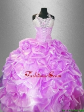 Latest Hand Made Flowers Quinceanera Dresses with Halter Top SWQD037-4FOR