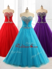 Lovely A Line Sweetheart Quinceanera Dresses with Beading for 2016SWQD060FOR