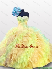 Luxurious 2016 Fall Multi Color Beading Quinceanera Dresses with Sweetheart SWQD012-7FOR