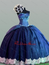 Luxurious Quinceanera Dresses with Lace in Navy Blue for 2015 Fall SWQD004-8FOR