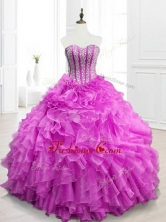 Modern Beading and Ruffles Fuchsia Quinceanera Gowns for 2016SWQD063-3FOR
