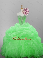 New Arrival 2016 Summer Beaded Quinceanera Dresses in Organza for 2015 Fall SWQD014-7FOR