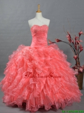 Perfect Sweetheart Beading Watermelon Quinceanera Dresses for 2016 Summer SWQD002FOR