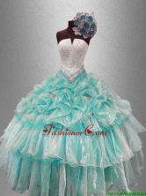 Pick Ups and Beaded Classical Sweet 16 Gowns with Ruffled Layers SWQD045-2FOR