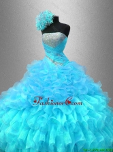 Popular Strapless Sequined Sweet 16 Gowns with Ruffles  SWQD044-1FOR